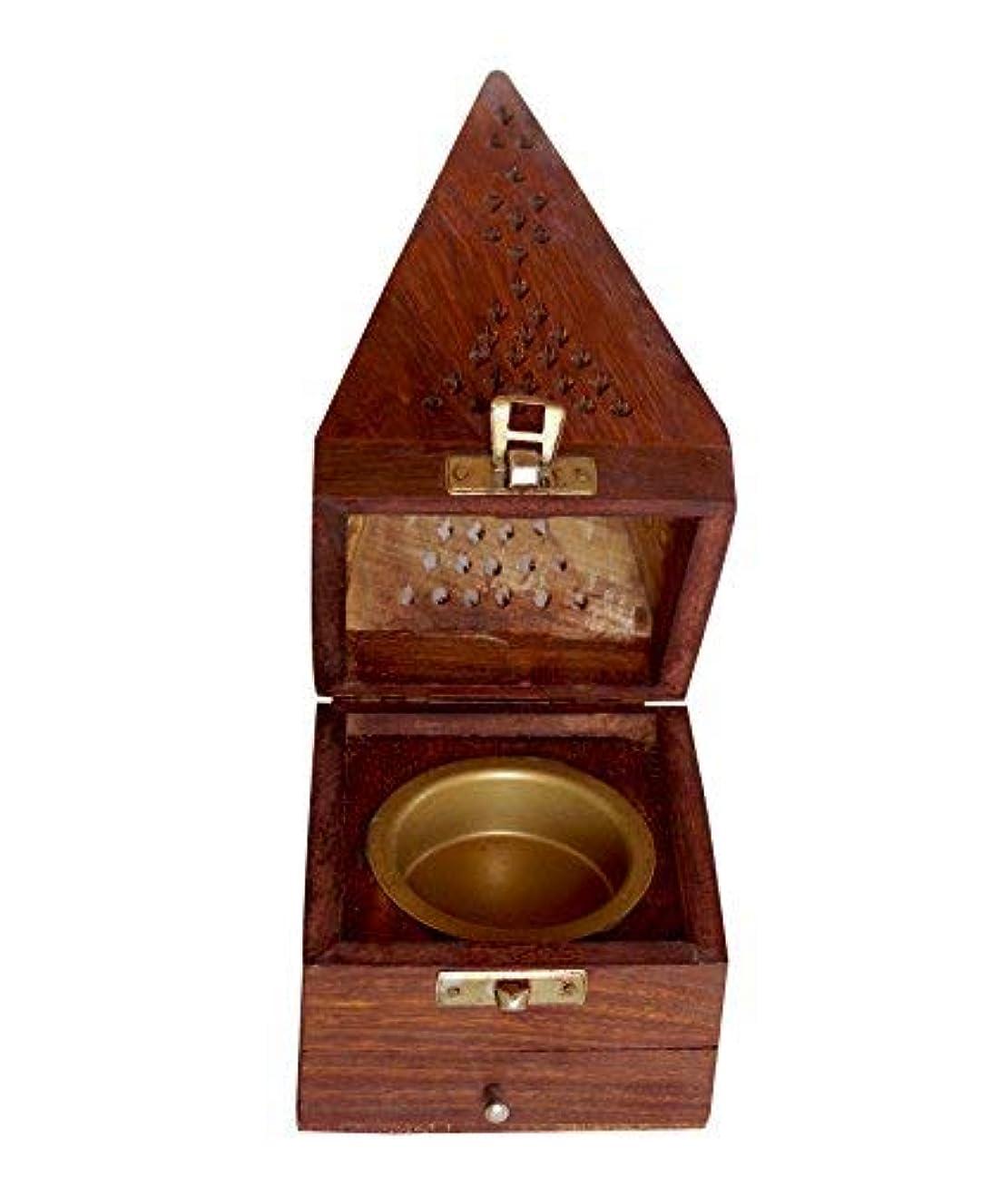 署名反射周辺クリスマスギフト木製円錐Incense Burner AshキャッチャーHome Fragranceアクセサリー