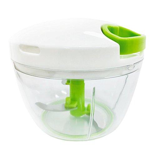 K&A みじん切り器 ふたも洗える ぶんぶんチョッパー 極 大きめ640ml 正規品レシピ付き 容量40%UP KIWAMI BBC-11A