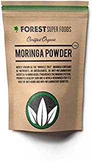 Forest Super Foods Certified Organic Raw Moringa Powder 500g Premium Quality (60 day supply) No fillers No GMO