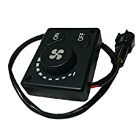 MolySun 車載 ヒーター ユニバーサルデザイン空調スイッチ車ワマーACノブ車の熱制御カバーファッショナブルなスイッチノブ車(黒)