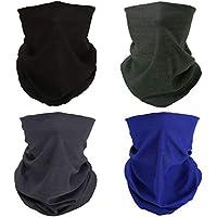4 Black Blue Gray Army-Green Multifunctional Elastic Seamless Headwear Bandana Headband Half Face Mask Scarf Neck UV Sun Protection Windproof Dustproof Motorcycle Bike Paintball Hunting Hiking Fishing
