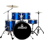 ドラム・パーカッション ドラムプロフェッショナル大人ジャズドラム子供の運動ドラムセット初心者5ドラム2個のパーティードラムパーカッション (Color : Blue, Size : 100*140cm)