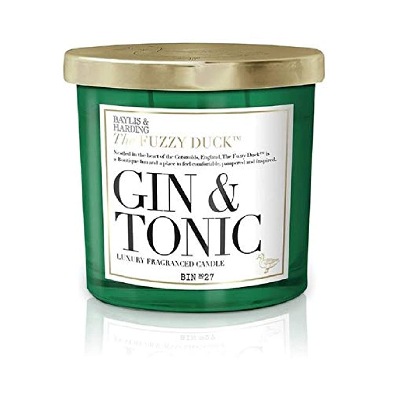 個人的に優れた定義[Baylis & Harding ] ベイリス&ハーディングファジーダックジン&トニック2芯キャンドル - Baylis & Harding Fuzzy Duck Gin & Tonic 2 Wick Candle [並行輸入品]