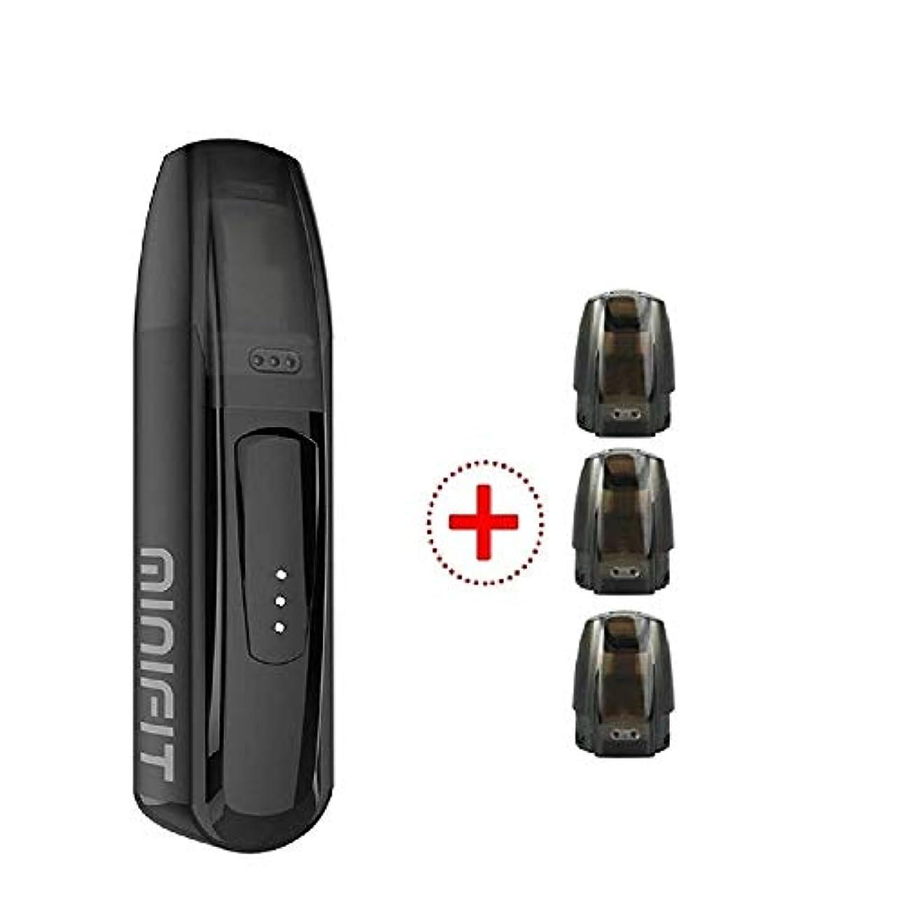 【正規品】付贈3個 ポッド Justfog Minifit Kit ジャストフォグ ミニフィット 電子たばこ (ブラック black)