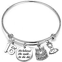 MYOSPARK Birthday Gift Her She Believed She Could So She Did Birthday Bracelet 10th 12th 16th 21th Bangle Bracelet