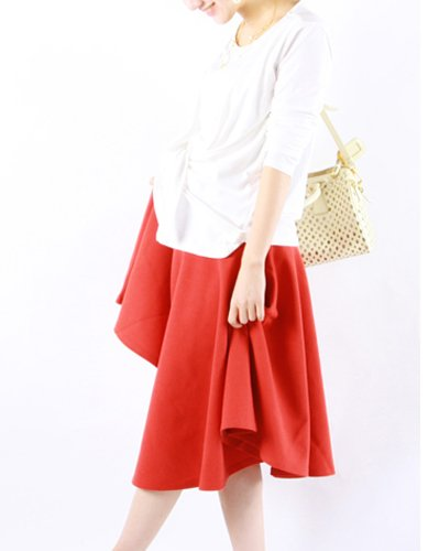 Use Milk tea Maternity skirt beauty · 2way waffle punch flare in the skirt pregnancy - postpartum