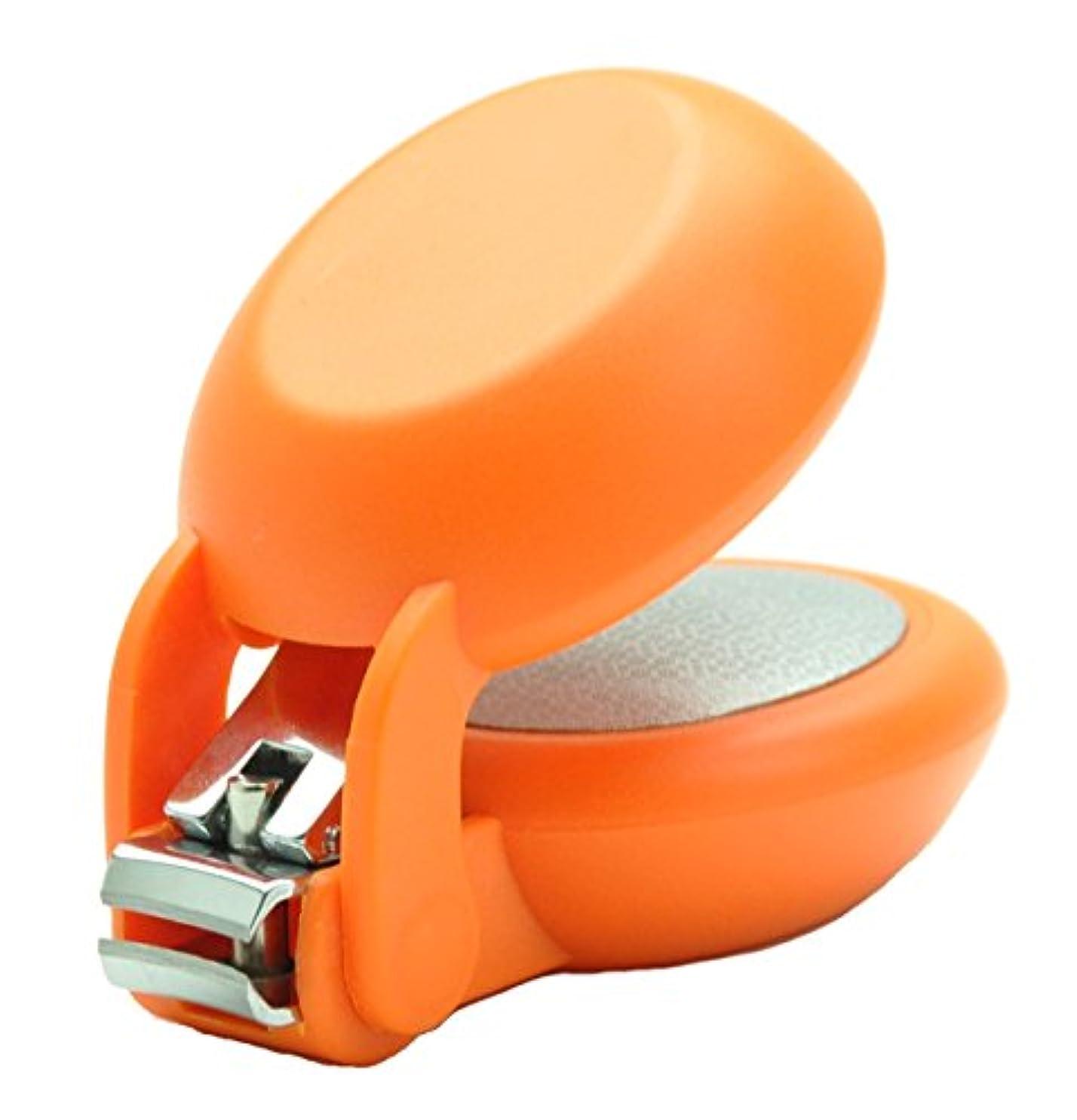 当社後ろ、背後、背面(部粘性の爪切り nail clipper (ネイルクリッパー) Nail+ (ネイルプラス) Orange (オレンジ)