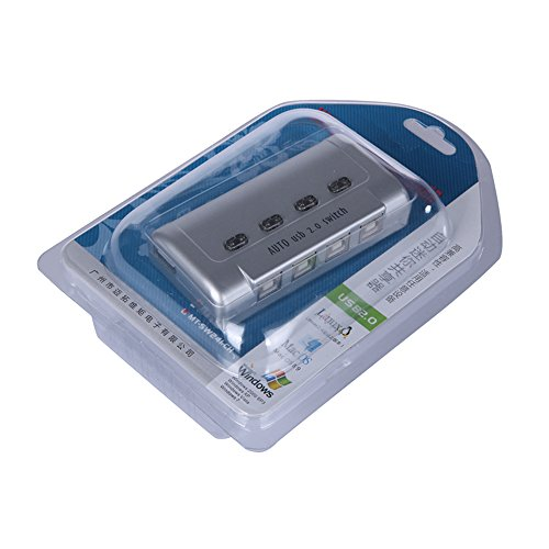 『ES-Tune USB切替器 半自動 ホットキー「Ctrl+F11」 4入力1出力 プリンタなどを共有 分配器 セレクター USB2.0端子 すべてのUSB端子に対応 HUB対応』の3枚目の画像