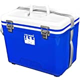 Techni Ice Compact Series Ice Box/Esky 18L, Ice Lasts up to 3 Days, White/Blue