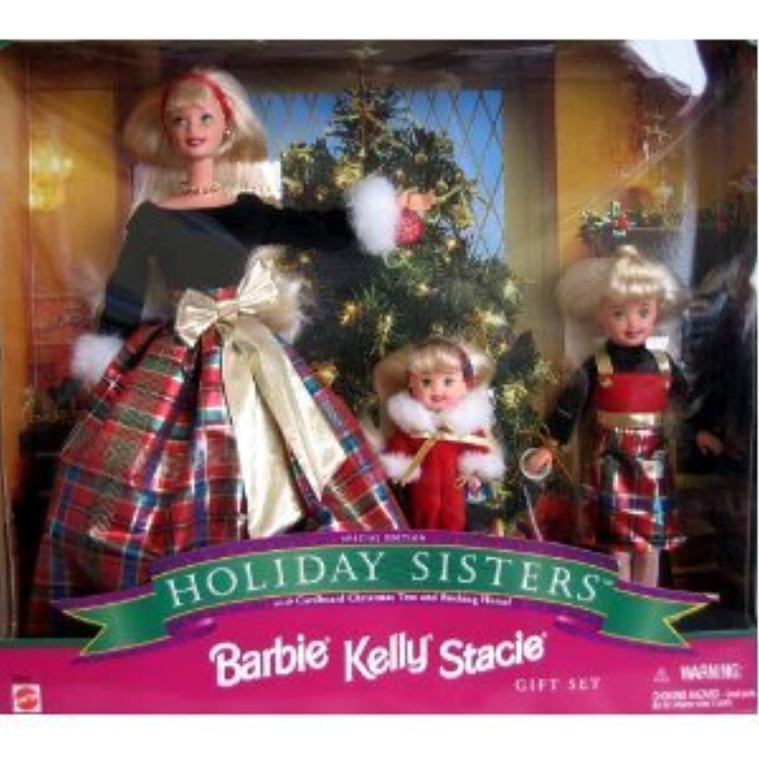 RARE, STUNNING 1998 Special Edition Barbie(バービー) KELLY STACIE Holiday Sisters Gift Set ドール 人形 フィギュア(並行輸入)