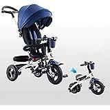 子供の三輪車 5 1人の子供の手のプッシュ三輪車6ポイントに6年の3ポイント安全ベルト子供のペダルの三輪車快適で調節可能なあと振れ止め子供のトライク最大重量25 Kg 三輪車 おりたたみ 持ち運び (色 : A)