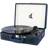 D&L SOUL レコードプレーヤー マルチレコードプレーヤー スーツケース型 バッテリー内蔵 Bluetooth機能(デニム)