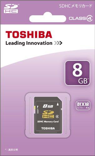 TOSHIBA SDHCカード 8GB Class4 日本製 (国内正規品) SD-L008G4