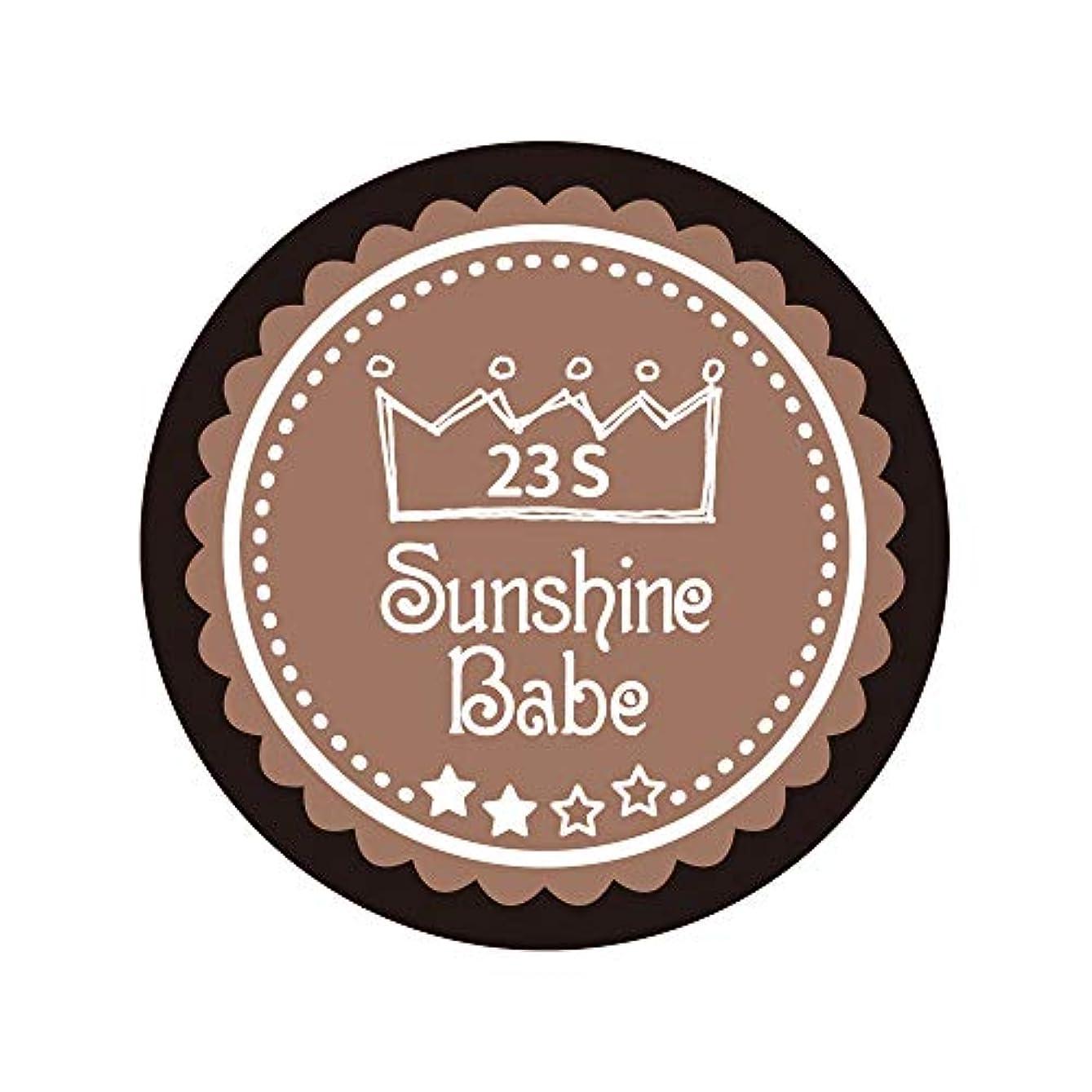 倫理的補助金日食Sunshine Babe コスメティックカラー 23S パティキュリエール 4g UV/LED対応