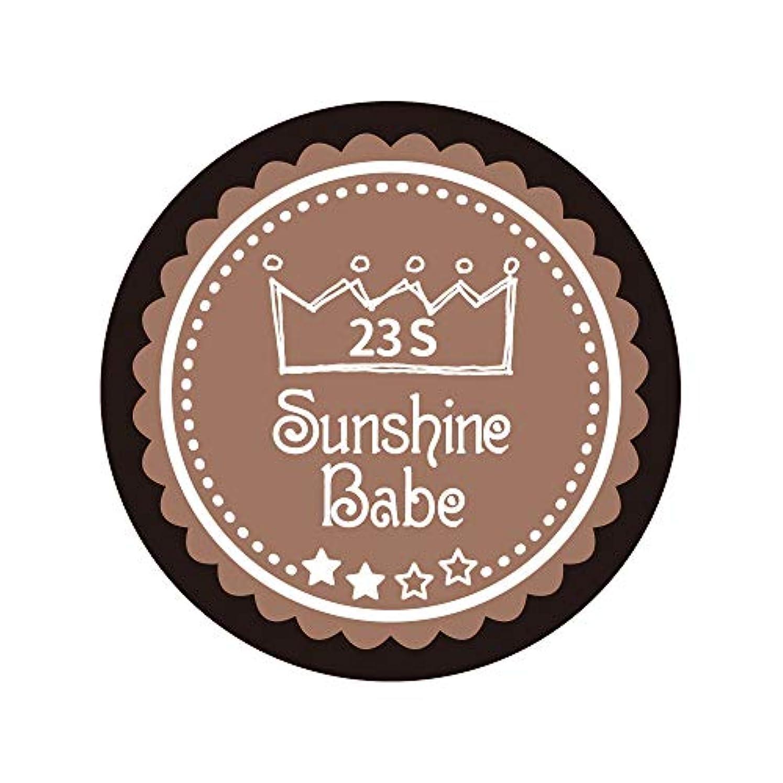 貢献するダース重要Sunshine Babe カラージェル 23S パティキュリエール 2.7g UV/LED対応