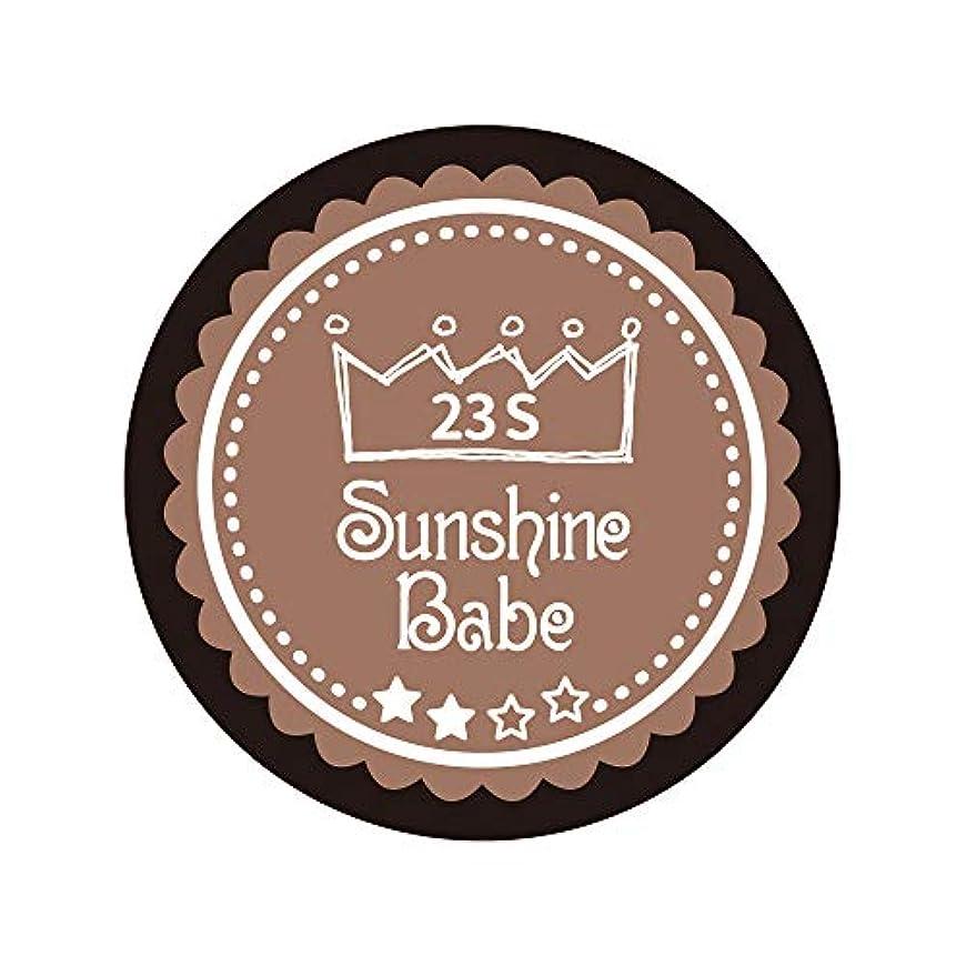 中級きらめき舗装Sunshine Babe カラージェル 23S パティキュリエール 2.7g UV/LED対応