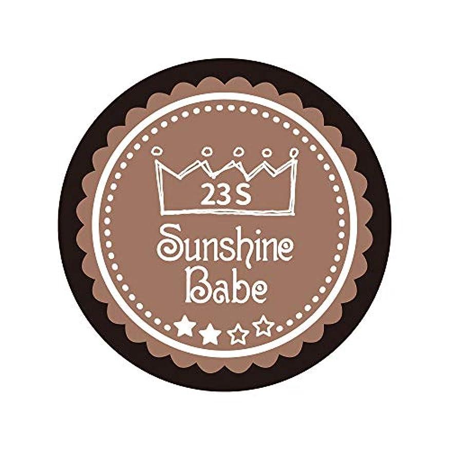 憤るステートメント許さないSunshine Babe カラージェル 23S パティキュリエール 2.7g UV/LED対応