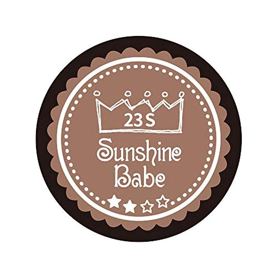 参照する技術者招待Sunshine Babe カラージェル 23S パティキュリエール 2.7g UV/LED対応