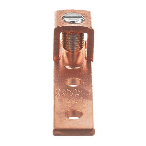 パンドウイット 銅製メカニカルコネクター, 2穴, シングルバレル, ストレート浮動タン型ラグ, 電線サイズ AWG2 - 1/0, マイナスネジ, 取付穴 6.4mm. CD125-14SL-QY