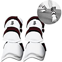 vbestlife Kickboxing Shin Guard、1ペアShinプロテクターMMA甲脚パッドパッド入りシャンク脚足ガード保護調節可能なストラップ保護ProtectiveトレーニングSparring