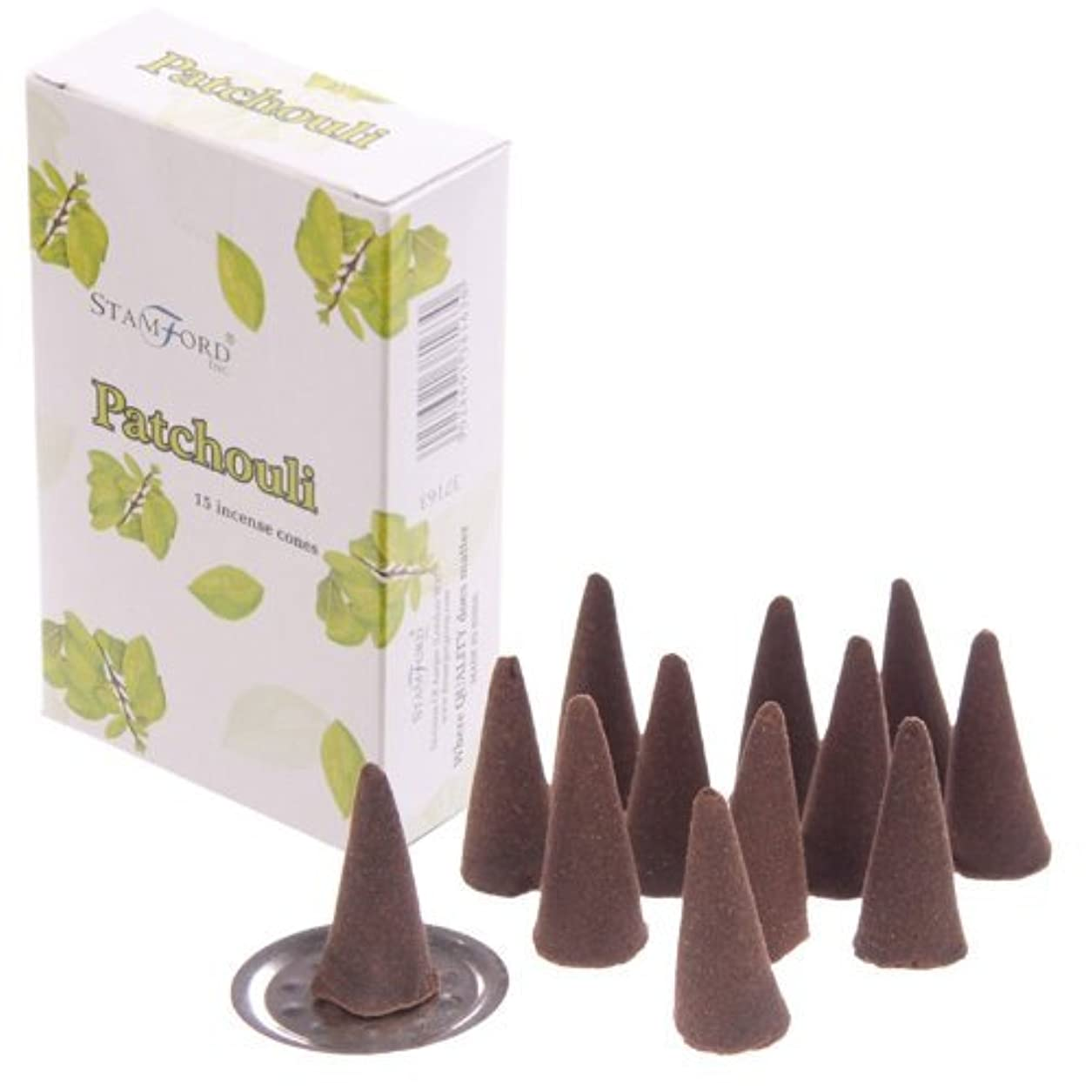 有彩色の腰成り立つStamford Incense Cones – Patchouli 37163 by lotusandlime