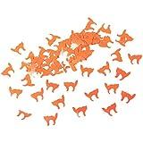 Baoblaze ハロウィン テーブル装飾 紙吹雪 おもちゃ 飾り 手作り装飾 2タイプ選べ - オレンジ猫