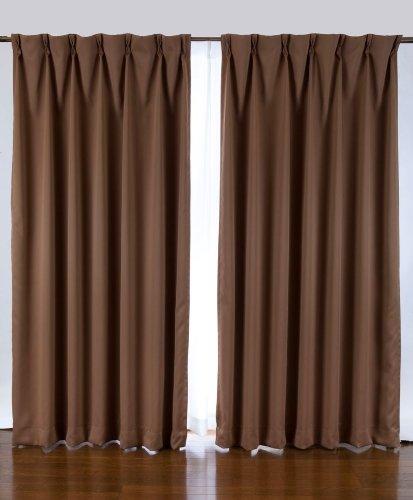 1級遮光カーテン 2枚入り ブラウン巾100X丈135