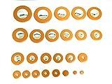 アルトサックス タンポ 25個セット 交換 修理 リペア メンテナンス 管楽器 (アルトサックス用 タンポセット ケース 付)