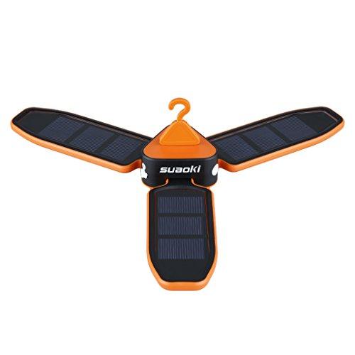 suaoki 高輝度LEDライト USB充電 ソーラーパネル 省電力のLED...