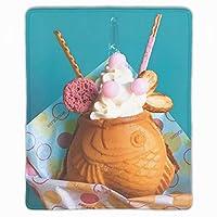 ゲーミング向け 大型マウスパッド デスクマット 防水材質 水で洗えるマウスパッド アイスクリーム柄