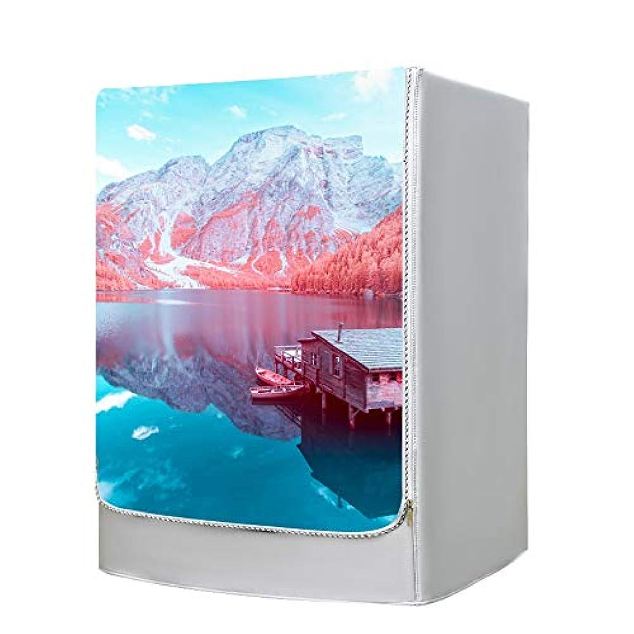 落ち着いたベーカリー降ろす防塵日焼け止め洗濯機保護カバーフロントロードマシンジッパーデザイン (Color : A, Size : M6-6.5kg)