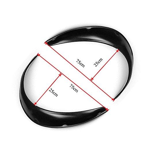 steman--net フェンダートリムセット 2PCS /セット 自動車アクセサリー 車改装 車輪装飾 車のタイヤガード 泥除け ファッションデザイン