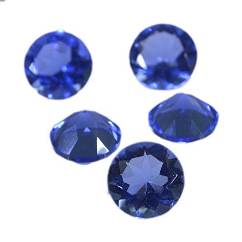 1個の青色の多面的な宝石ラウンド10×10ミリメートルの合成キュービックジルコニアブルーshappireのCZルース宝石