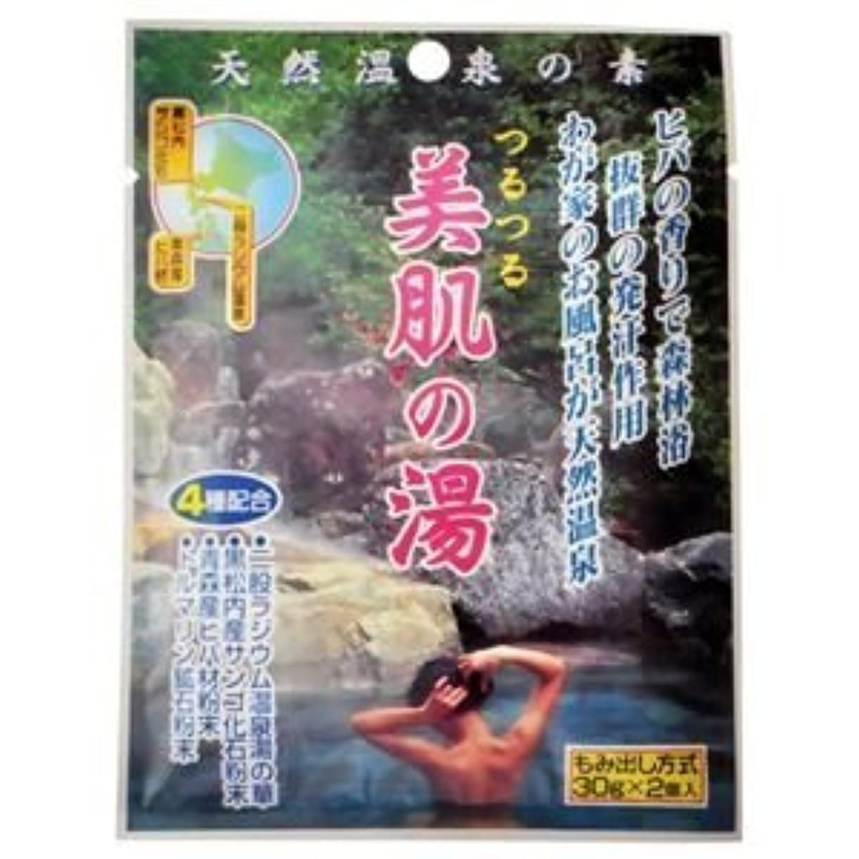 前方へ一流縫い目天然温泉の素 つるつる美肌の湯 30g×2個入(入浴剤) (10個セット)
