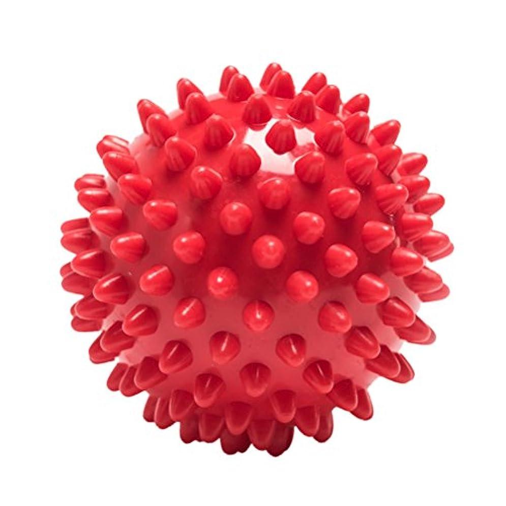 Healifty マッサージボール マッサージローラー マッサージ器 ボディ パームフィート 筋肉リラックス スパイク 足 ほぐし 健康器具 血行促進 頭痛 浮腫み解消 疲労回復(赤)
