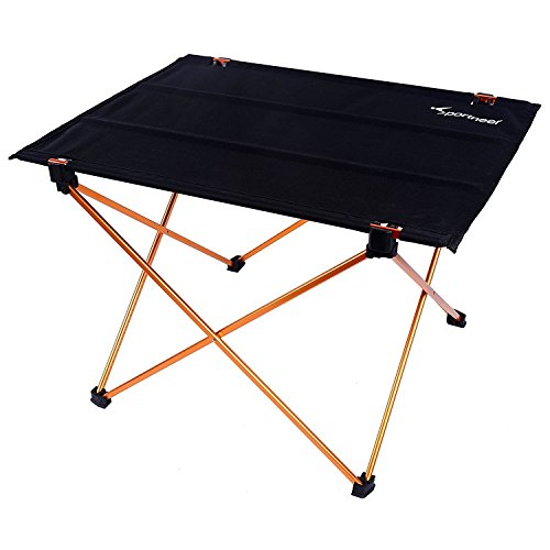 Sportneer アウトドアテーブル 折りたたみ テーブル ロールテーブル 軽量 アウトドア コンパクト キャップ BBQ ビーチ アルミ