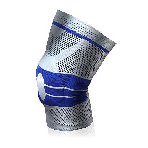 【2019最新版】PYKES PEAK 膝サポーター スポーツ【シリコンゲルで膝をがっちりサポート】膝固定 関節靭帯保護 左右兼用 2色 S/M/L