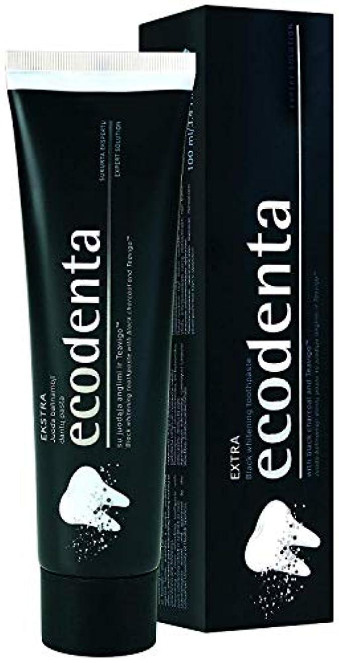 クライアント不条理犯人[(ECODENTA) ECODENTA] [ EKSTRA black whitening toothpaste with black charcoal and Teavigo, 100 ml(Pack of 2)]...