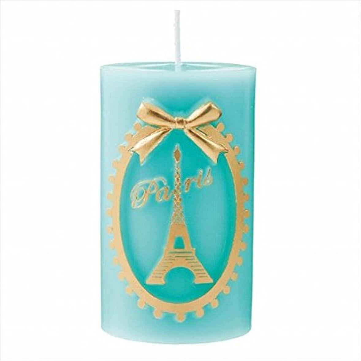 瞑想的故障ハンカチカメヤマキャンドル(kameyama candle) エッフェル塔ピラー 「 エメラルド 」
