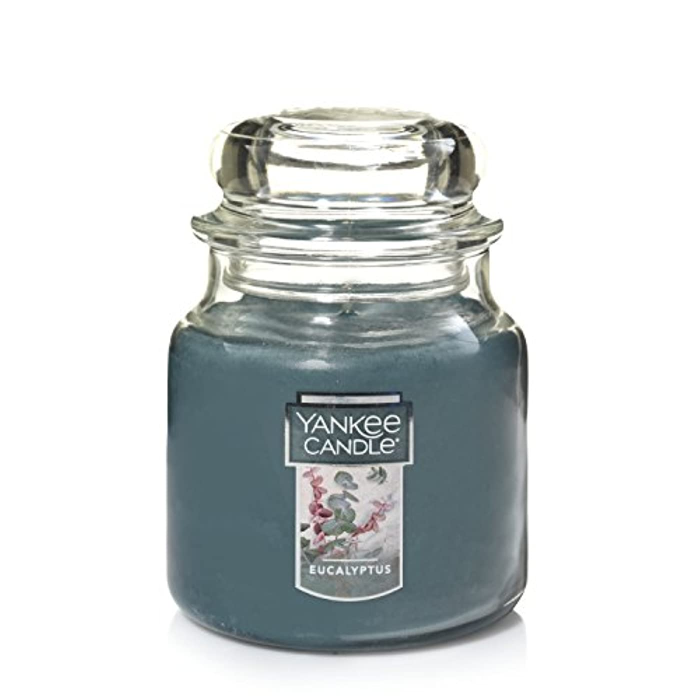 懐疑論バングラデシュリングバックYankee Candleユーカリ、新鮮な香り Medium Jar Candle グリーン 11411Z