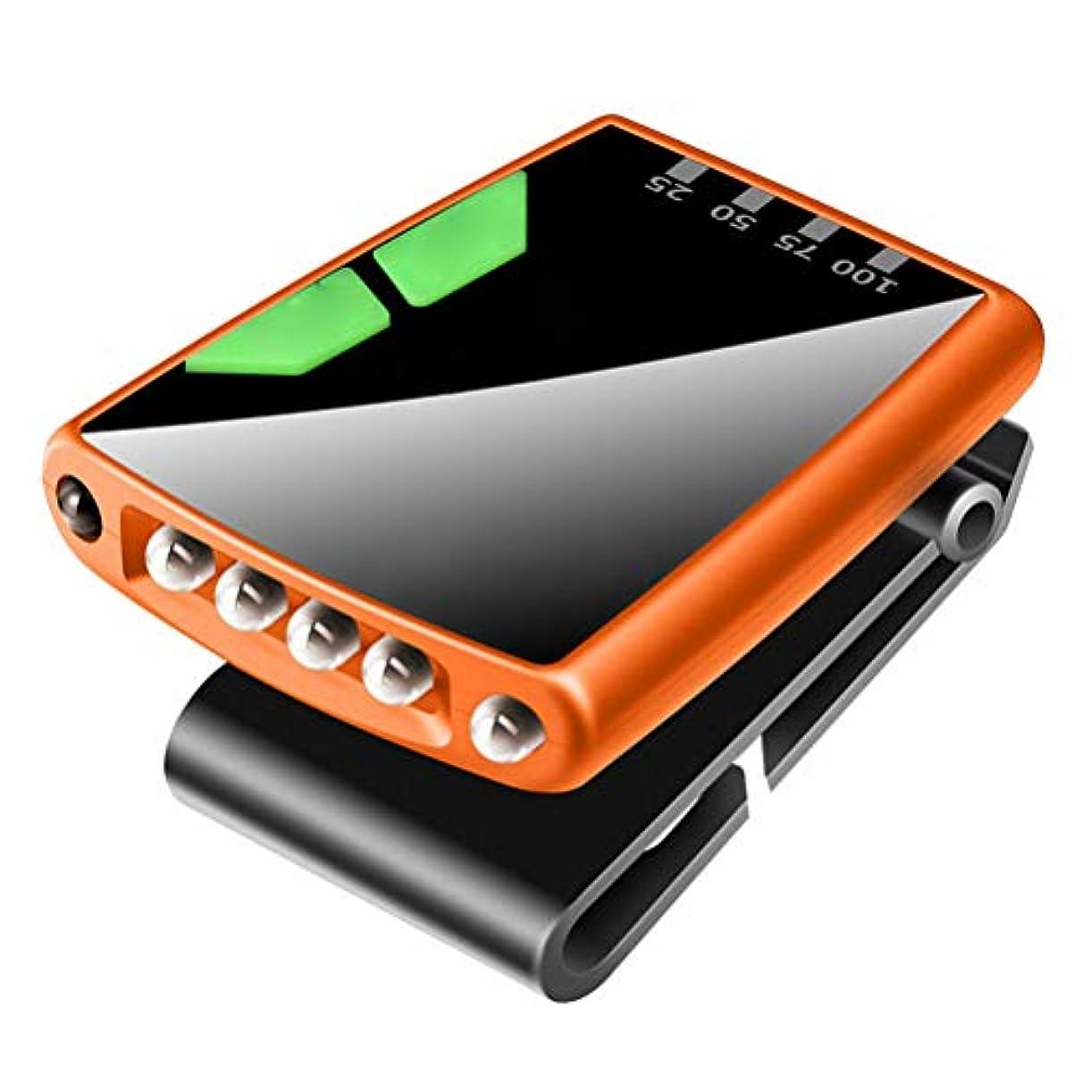 モニター安価な集計LEDMOMO USB充電  LED キャップライト ヘッドライト ヘルメットライト 釣り 登山 アウトドア用 キャンプ用品(オレンジ)