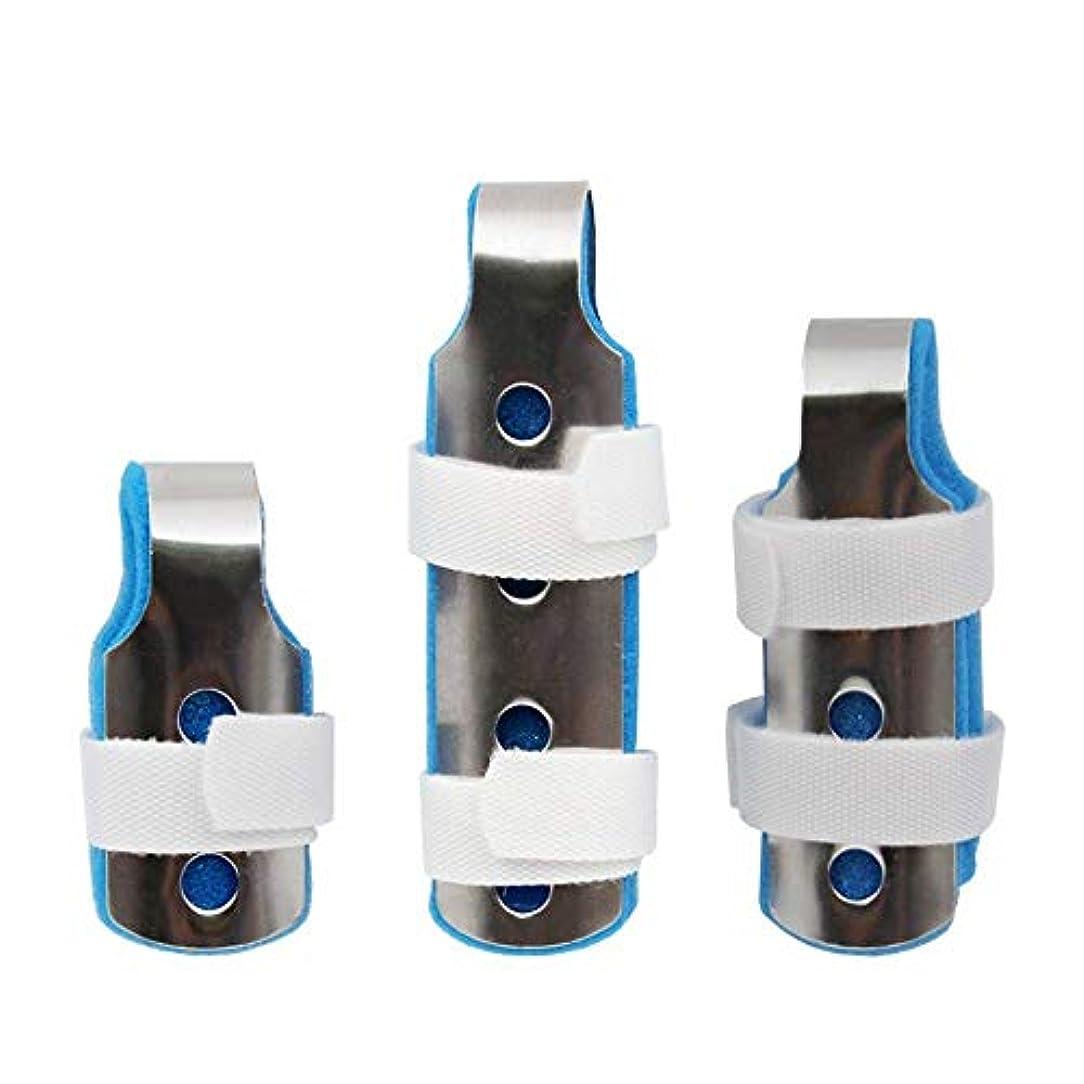 国寸法ペンス指の添え木、関節炎のためのサポートフィンガープロテクションストレートスリーピース