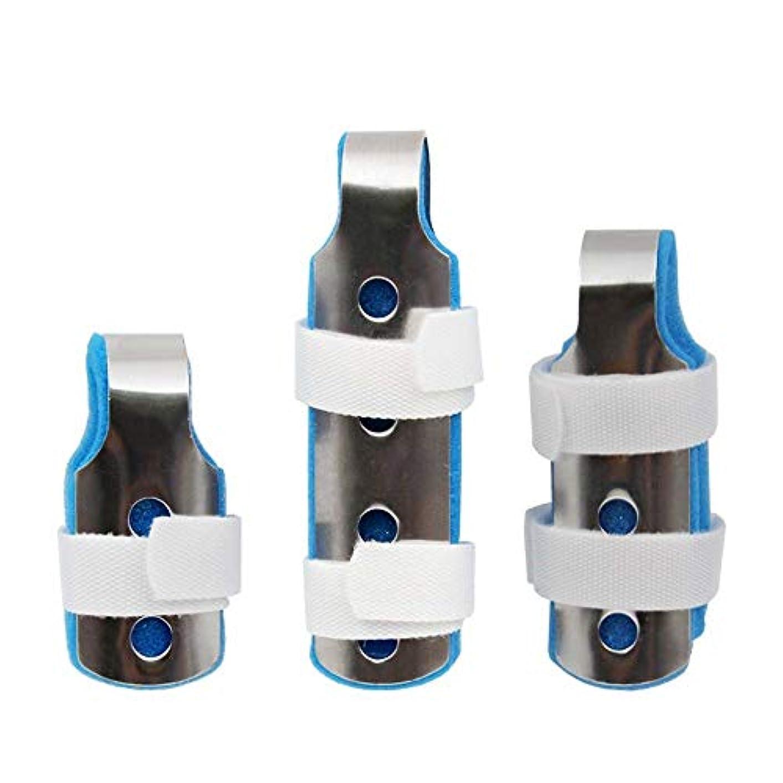 不格好配当ショッピングセンター指の添え木、関節炎のためのサポートフィンガープロテクションストレートスリーピース