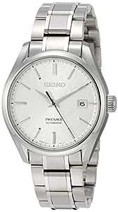[セイコーウォッチ] 腕時計 プレザージュ 和紙模様シルバー文字盤 メカニカル サファイアガラス チタンモデル SARX055 メンズ シルバー