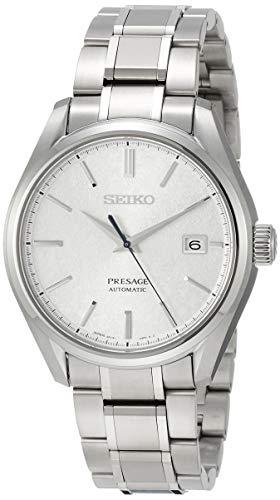 [プレザージュ]PRESAGE 腕時計 PRESAGE 和紙模様シルバー文字盤 メカニカル サファイアガラス チタンモデル SARX055 メンズ
