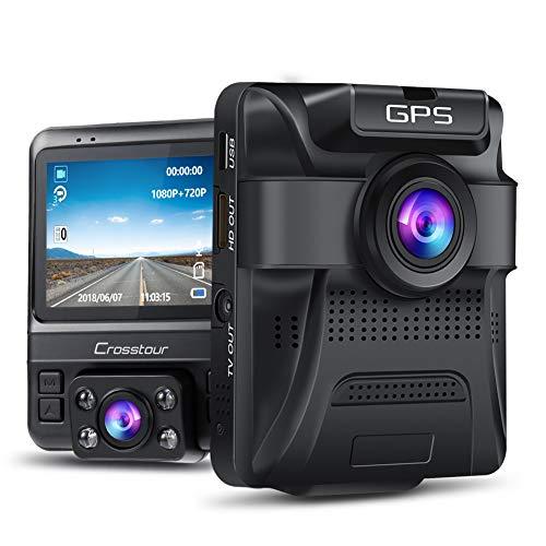 ドライブレコーダー 前後カメラ 内蔵GPS 1080フルHD 1800万画素 170度広角 ドラレコ Gセンサー 衝撃録画 駐車監視 動体検知 ループ録画 CR750