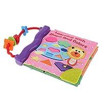 KESOTO 布えほん 布の本 動物 学習 教育 書籍 破れない 知育玩具 学習 多機能 幼児 全2種 - スタイル2