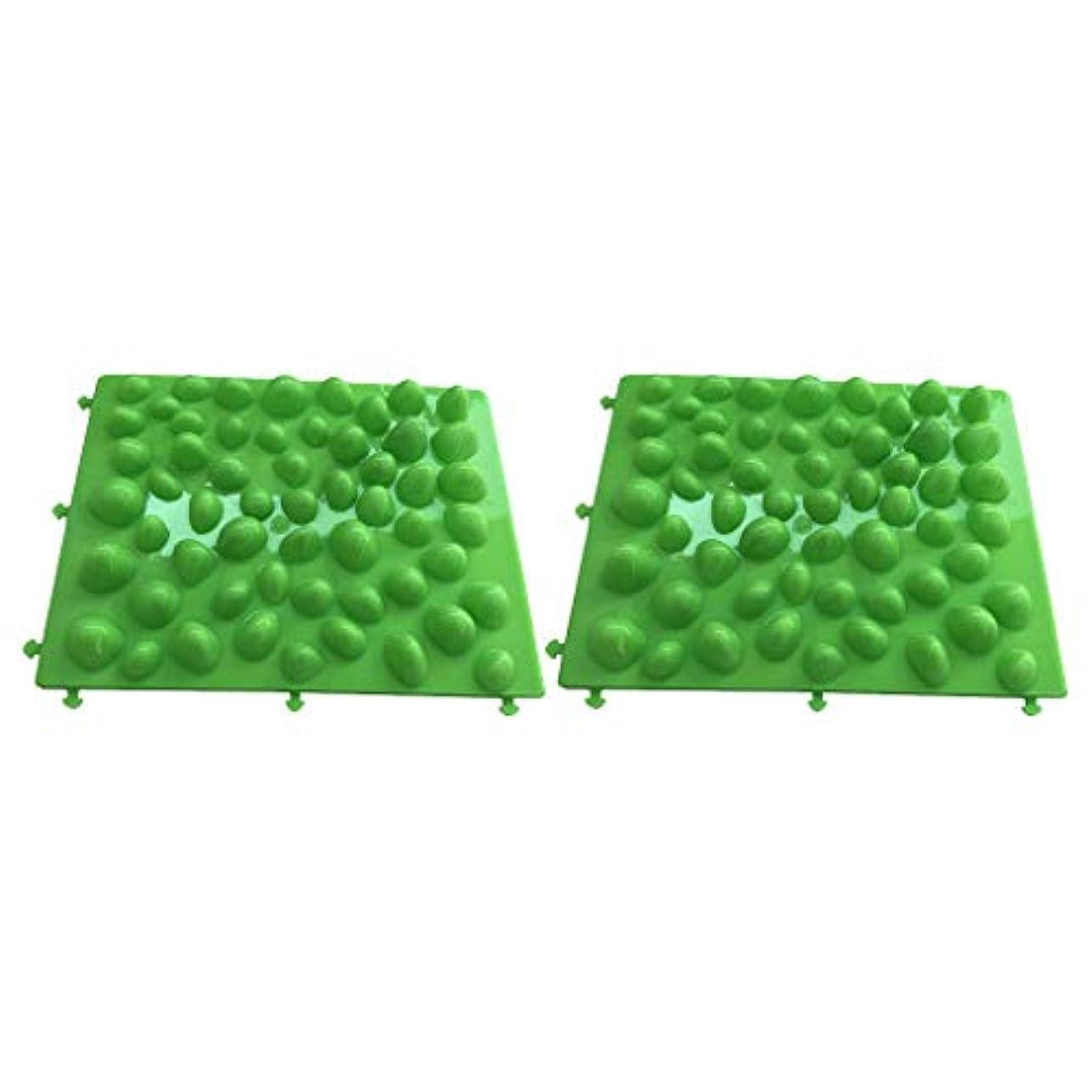 地上でショートきつくフットマッサージ 足のマッサージパッド フットマット プラスチック製石 血行促進 フットケア 2個入