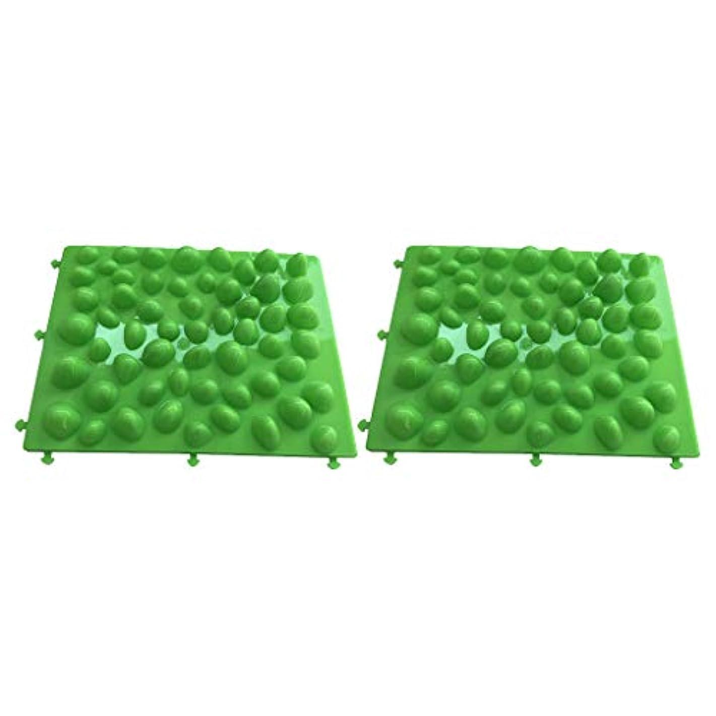 小さい壁粘土フットマッサージ 足のマッサージパッド フットマット プラスチック製石 血行促進 フットケア 2個入
