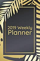 2019 Weekly Planner: Black and Gold Texture Daily Diary - Great schedule for teachers, students or anyone else who needs to keep their lives focused in a beautiful way! (Elegant Black and Gold)